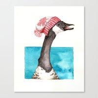 Canada Goose in a Canada Toque Canvas Print