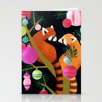 Red Pandas In Christmas … Stationery Cards