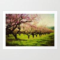 Orchard Play Art Print