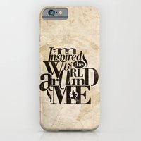iPhone & iPod Case featuring I'm Inspired By The World Around Me by Ewan Arnolda