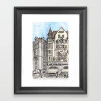 Downtown Basel, Switzerl… Framed Art Print