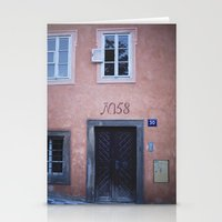 Pink House In Prague Stationery Cards