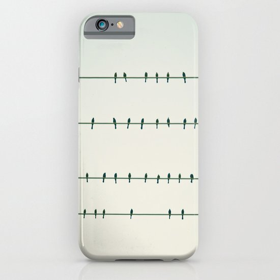 Birds on Four Wires  iPhone & iPod Case