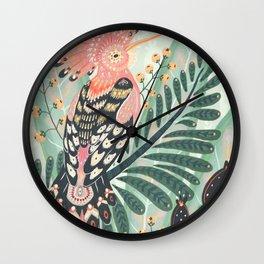 Wall Clock - Hoopoe Bird - Angela Rizza