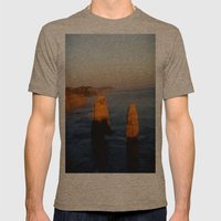 Glowing Rock Stacks Mens Fitted Tee Tri-Coffee SMALL