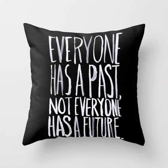 Past/Future Throw Pillow