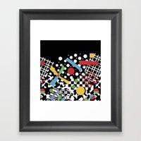 Ticker Tape Geometric Framed Art Print