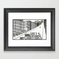Bomb Hills Not Countries Framed Art Print