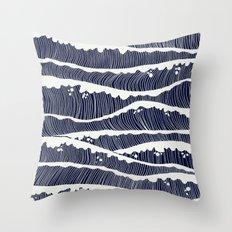 wavesss Throw Pillow