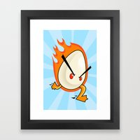 EggFury Framed Art Print