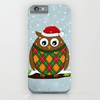 iPhone & iPod Case featuring Christmas Owl by Matt Andrews