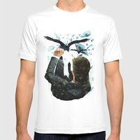 Falling To The Crows Mens Fitted Tee White SMALL