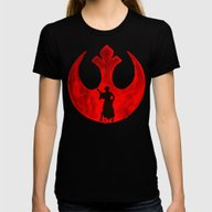 Star Wars Princess Leia … Womens Fitted Tee Black SMALL
