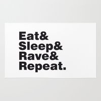 Eat & Sleep & Rave & Rep… Rug