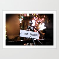 Jack Skellington - I AM HERE Art Print