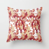 Beware the wolf Throw Pillow