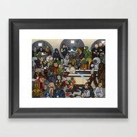 The Mos Eisley Cantina Framed Art Print