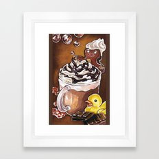 Gingerbread Bath Framed Art Print