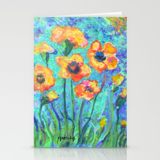 Pansies Stationery Card