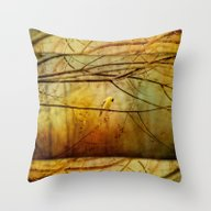 Throw Pillow featuring Yellow Songbird In Morni… by Ginkelmier