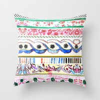 Patterned Stripes Throw Pillow