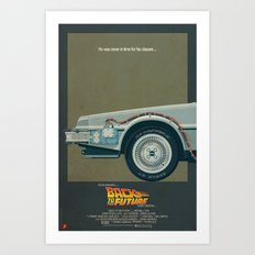 DeLorean Time Machine, Back to the Future Version 1 I/III Art Print