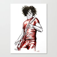 Jack White Red Watercolor Canvas Print