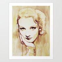 Marlene Dietrich  Art Print