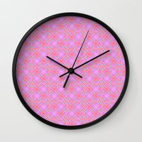 Pastel Broken Diamond Sw… Wall Clock