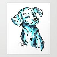 Brush Breeds-Dalmatian Art Print