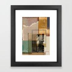 WHERE LOVERS LIE// Framed Art Print