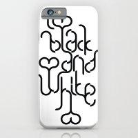 I Love Black And White iPhone 6 Slim Case