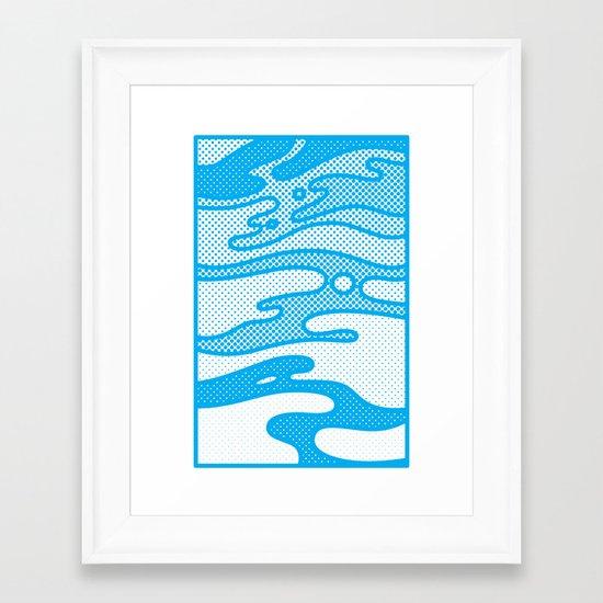 Pop Camo Framed Art Print
