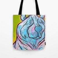 "Tote Bag featuring ""ART-ik Bear"" by Tom Ryan's Studio"