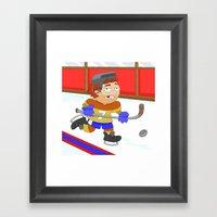 Winter Sports: Ice Hocke… Framed Art Print