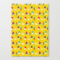 Ice Cream Pattern - Ligh… Canvas Print