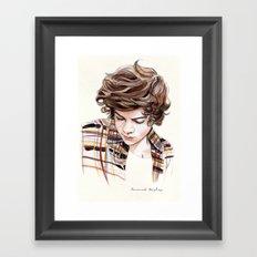 H Plaid Watercolors Framed Art Print