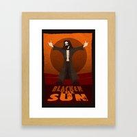 Blacken the Sun Framed Art Print