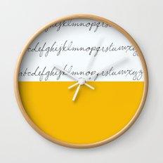 Alphabet-Yellow Wall Clock