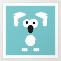 Minimal Koala Art Print