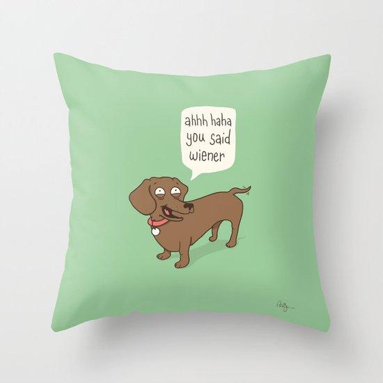 Immature Dachshund Throw Pillow