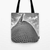 Swan Bell Tower Tote Bag