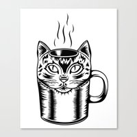 Coffee Cat Canvas Print