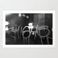 Paris Graphity Art Print