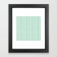 Herringbone Mint Zoom Framed Art Print