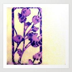 floral purple Art Print