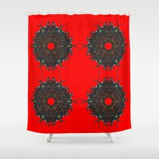 red stars Shower Curtain