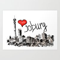I love Joburg Art Print