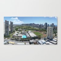 Honolulu View Canvas Print