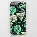 90's Dinosaur Skeleton Neon Pattern iPhone & iPod Case